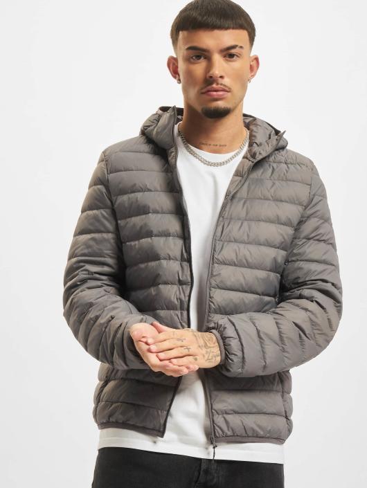Urban Classics Übergangsjacke Basic Hooded Down grau