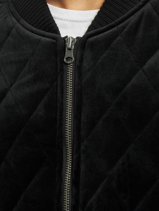Urban Classics Übergangsjacke Diamond Quilt Velvet schwarz