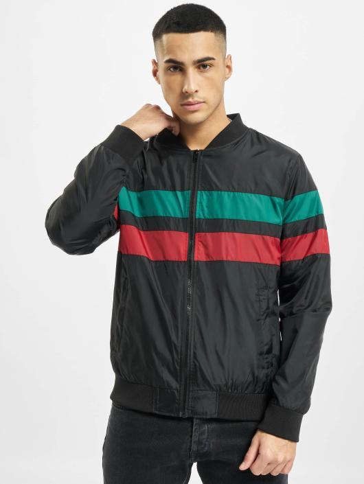 Urban Classics Übergangsjacke Striped schwarz