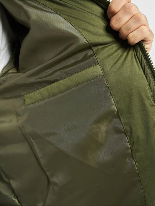 Urban Classics Vattert jakker Hooded Boxy Puffer oliven
