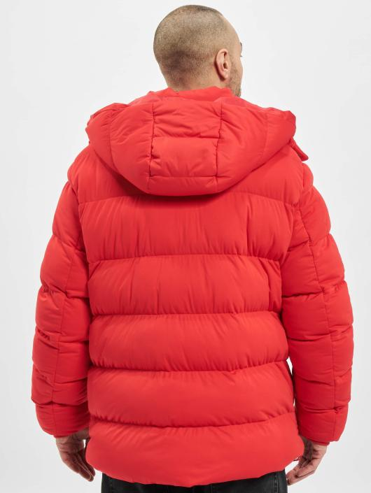 Urban Classics Vattert jakker Hooded Boxy Puffer red