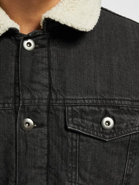 Urban Classics   Sherpa noir Homme Veste Jean 400391 63706a781f0d