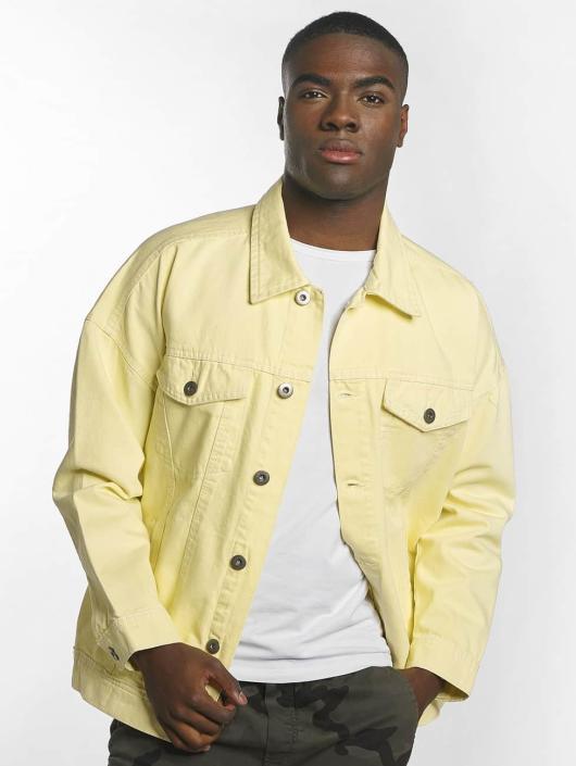 Veste en jean jaune oversize