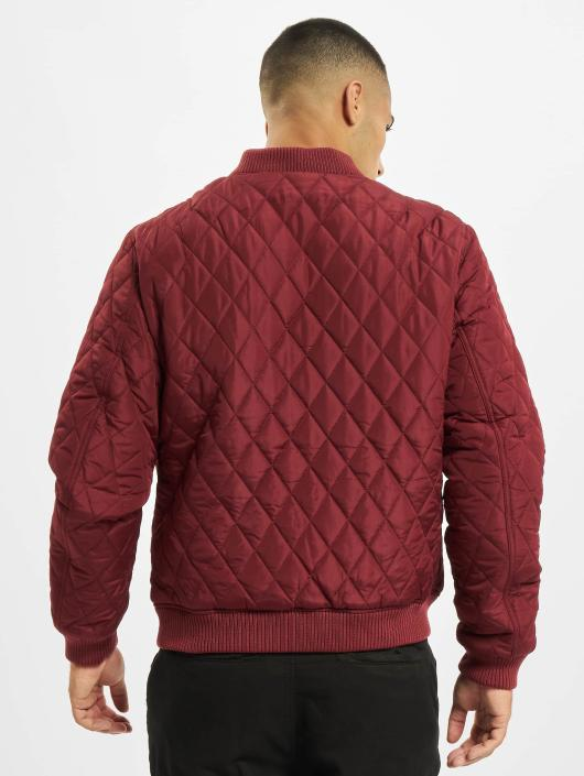 Urban Classics Veste mi-saison légère Diamond Quilt Nylon rouge