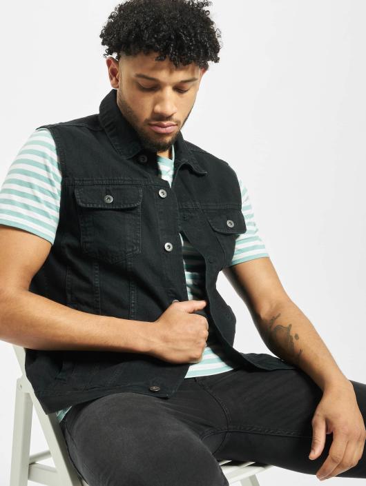 6fafe0fef0363 Urban Classics | Denim Vest noir Homme Veste sans manche 105176