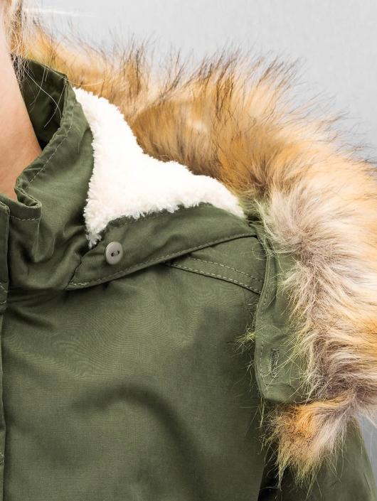 Urban Classics Vinterjakke Ladies Sherpa Lined Peached oliven
