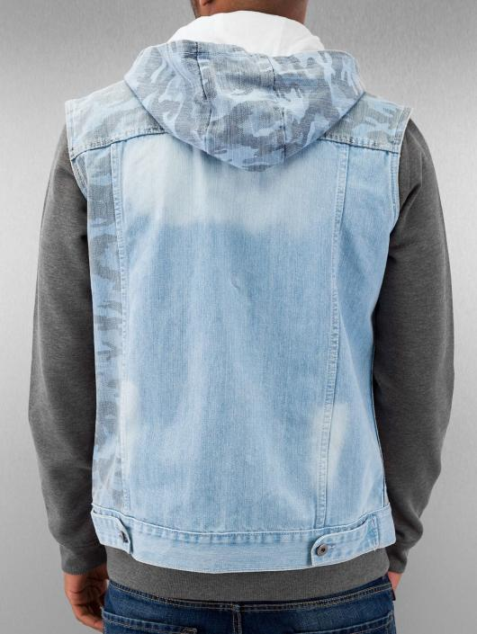 Urban Classics Weste Hooded Camo Denim blau