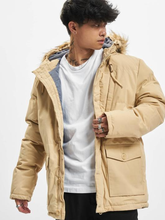 Urban Classics Winter Jacket Chambray Lined beige