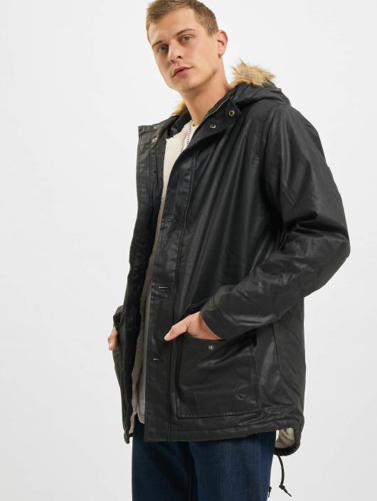 Urban Classics Winterjacke Coated Nylon schwarz