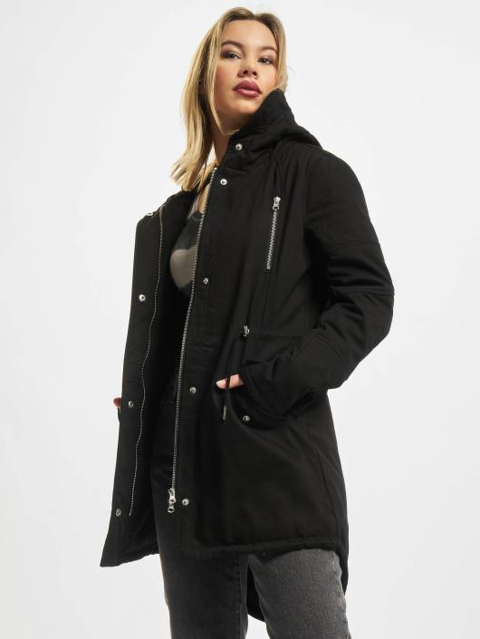 Urban Classics Winterjacke Ladies Sherpa Lined Cotton schwarz