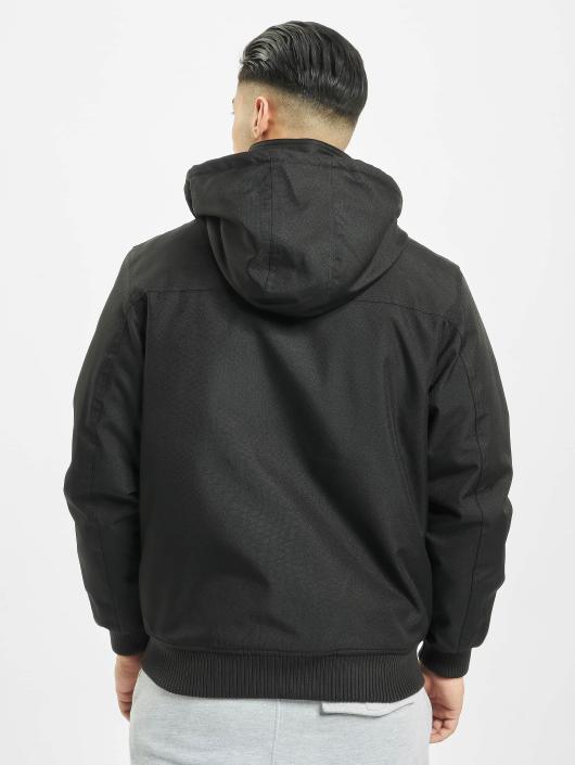 Urban Classics Winterjacke Heavy Hooded schwarz