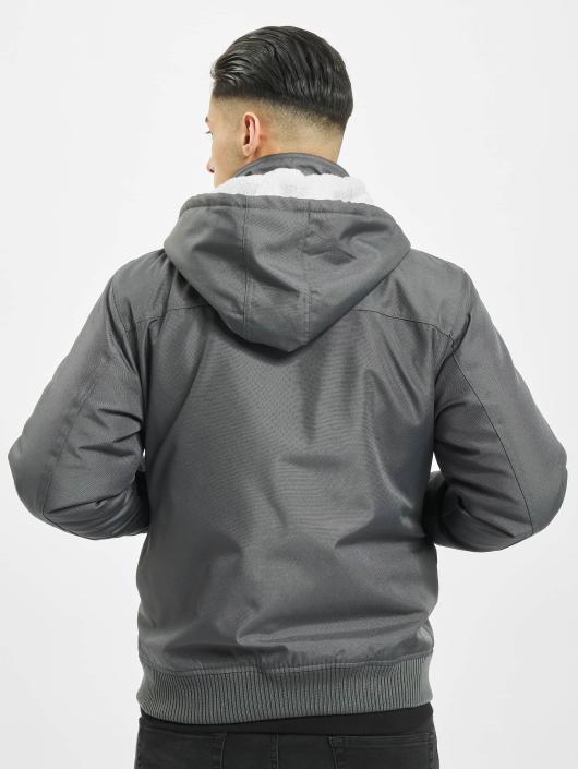 Urban Classics winterjas Heavy Hooded grijs