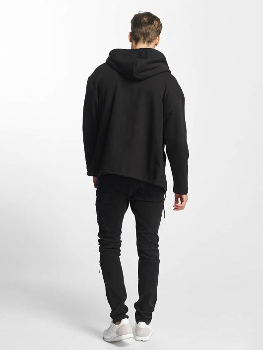 Urban Classics Zip Hoodie Long èierna
