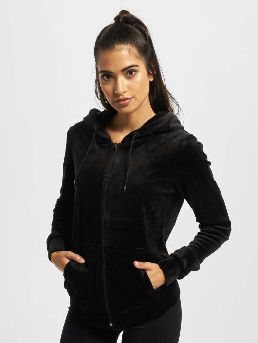 Urban Classics Zip Hoodie Ladies Velvet black