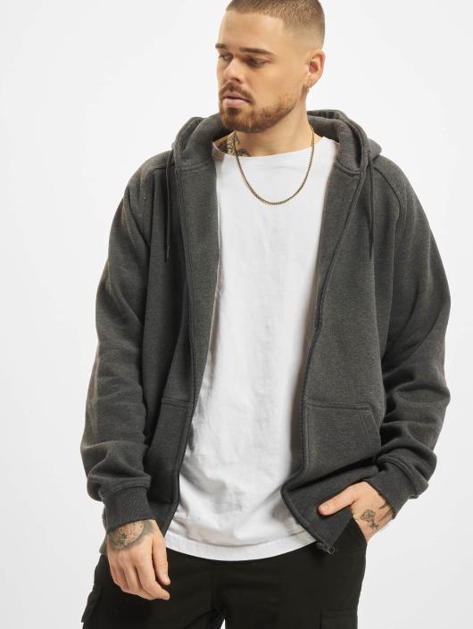 Urban Classics Zip Hoodie Blank gray