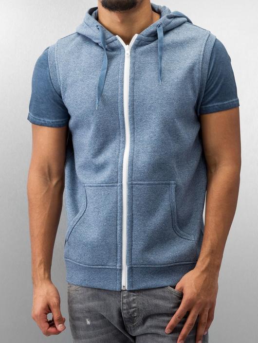 Urban Classics Zip Hoodie Melange Hooded modrá