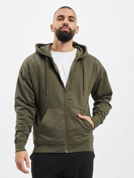 Urban Classics Zip Hoodie Oversized oliwkowy
