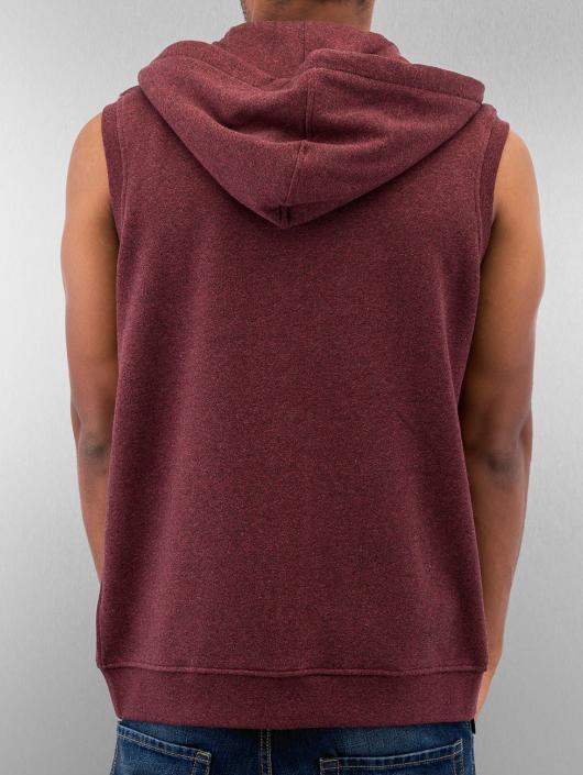 Urban Classics Zip Hoodie Melange Hooded red
