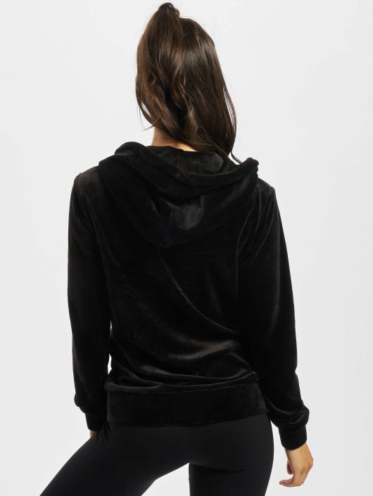 Urban Classics Zip Hoodie Ladies Velvet svart