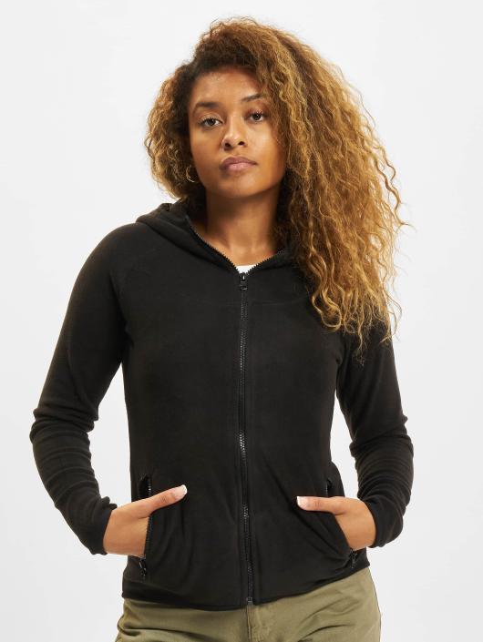 Urban Classics Zip Hoodie Polar Fleece svart
