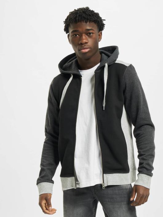 Urban Classics Zip Hoodie 3 Tone Zip svart