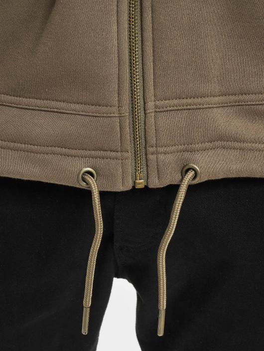 Urban Classics Zip Hoodie Long zelená