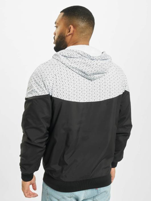 Urban Classics Zomerjas Pattern Arrow Windrunner zwart