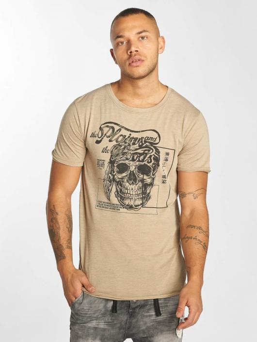 Urban Surface T-Shirt Skull Wood beige