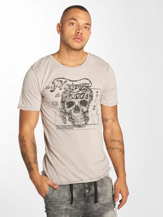 Urban Surface T-Shirt Skull Wood gray