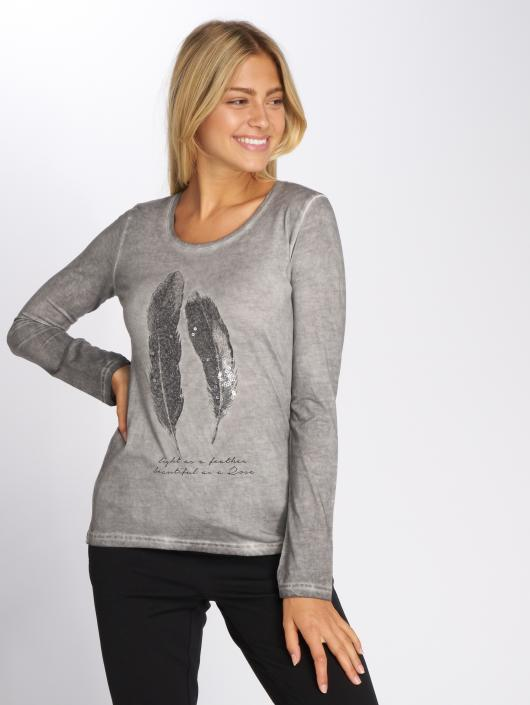 Gris T shirt Longues 527524 Surface Manches Femme Feather Urban f6vyYgb7