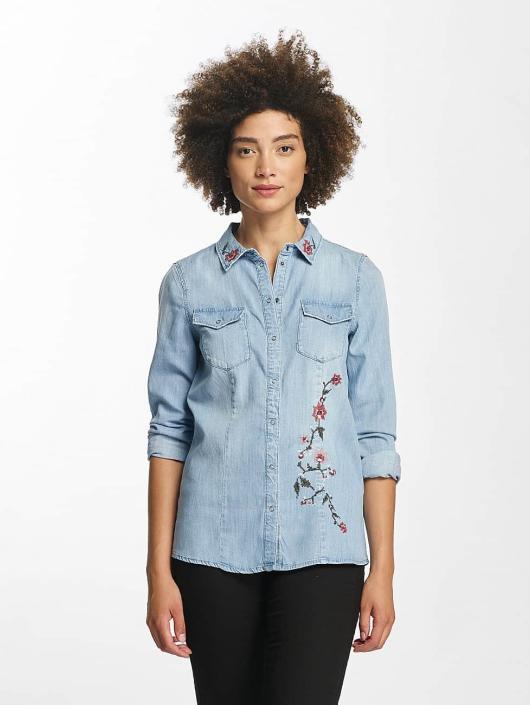 Vero Moda Bluser/Tunikaer vmViola Embroidery blå