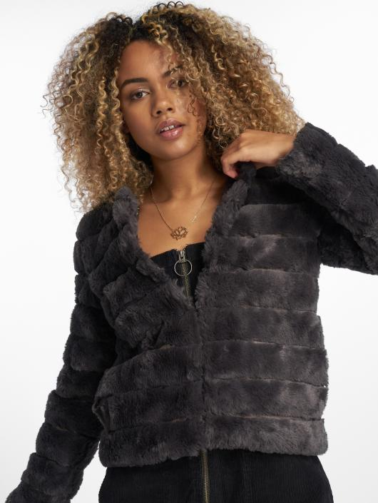 Vero Moda Lightweight Jacket vmAvenue Faux Fur Short grey