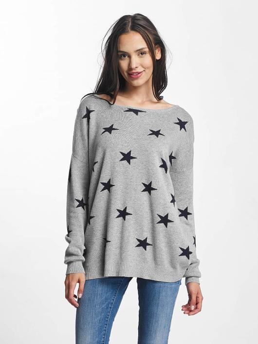 Vero Moda Pullover vmDotty Oversize grau