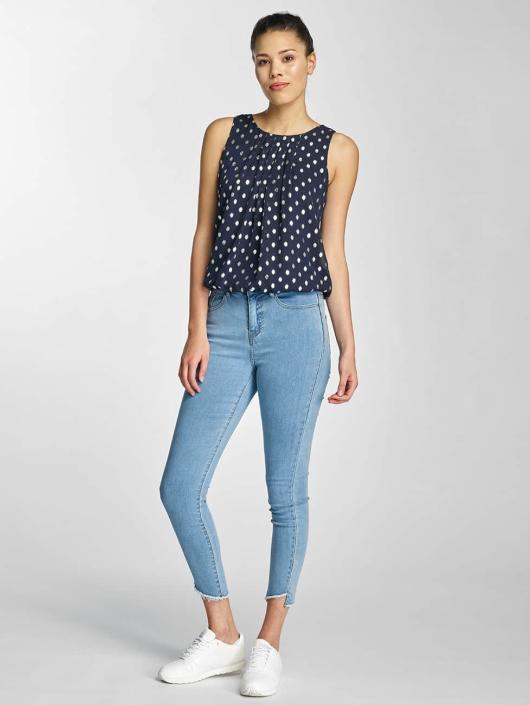 Vero Moda Slim Fit Jeans vmNine modrá