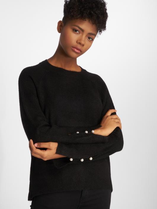 Vero Moda T-Shirt manches longues vmLagoura Pearl noir