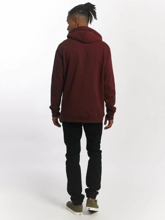 Volcom Bluzy z kapturem Stone czerwony