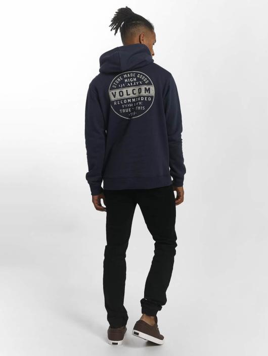 Volcom Bluzy z kapturem Supply Stone niebieski