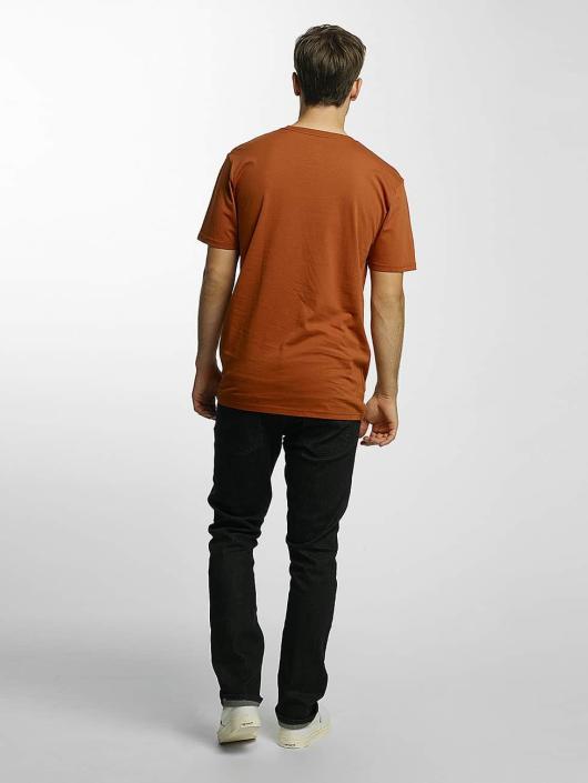 Volcom Camiseta Line Euro Basic marrón