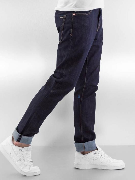 Volcom Straight fit jeans 2x4 Denim blauw