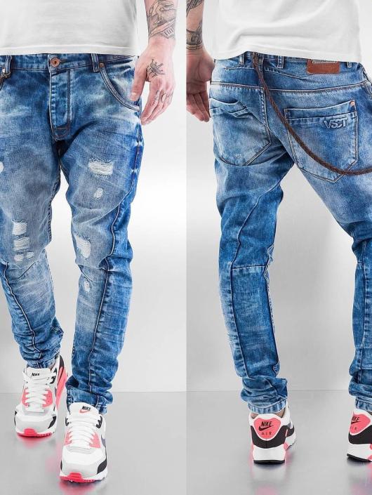 VSCT Clubwear Antifit-farkut Hank Acid Slim Twisted sininen