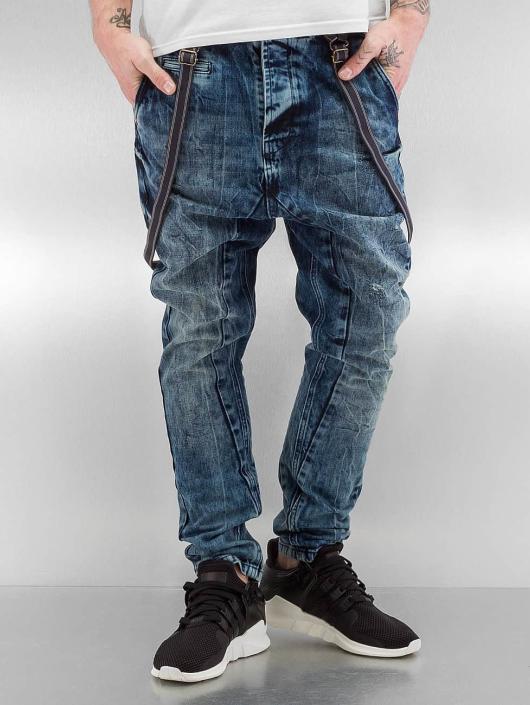 VSCT Clubwear Antifit-farkut Brad Slim with Supspenders sininen