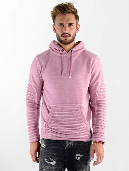 VSCT Clubwear Bluzy z kapturem Biker Oilwash rózowy
