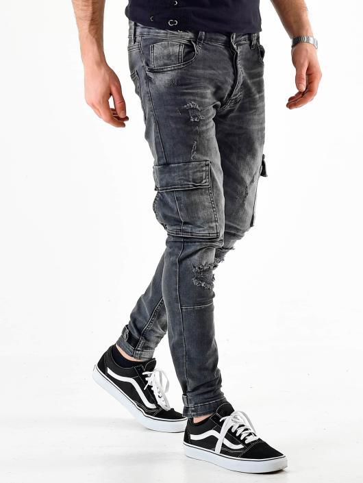 VSCT Clubwear Cargohose Knox Adjust Hem Denim grau