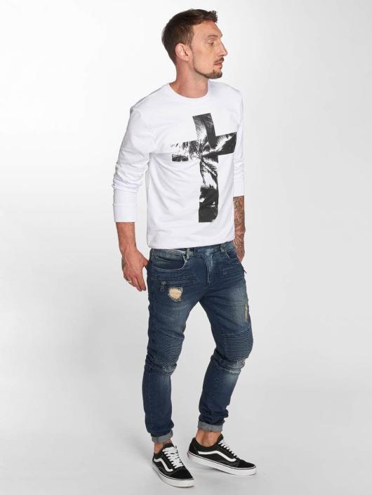 VSCT Clubwear dżinsy przylegające Liam Biker niebieski