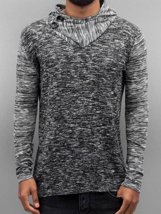 VSCT Clubwear Hoodie 2 Btn Hooded Moulinee 2 Colour grey