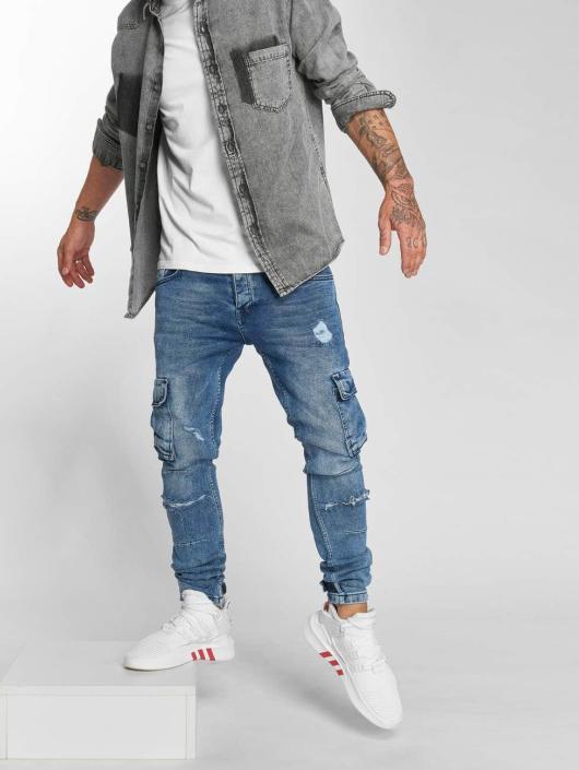 VSCT Clubwear Jean carotte antifit Knox Cargo Adjust Hem bleu