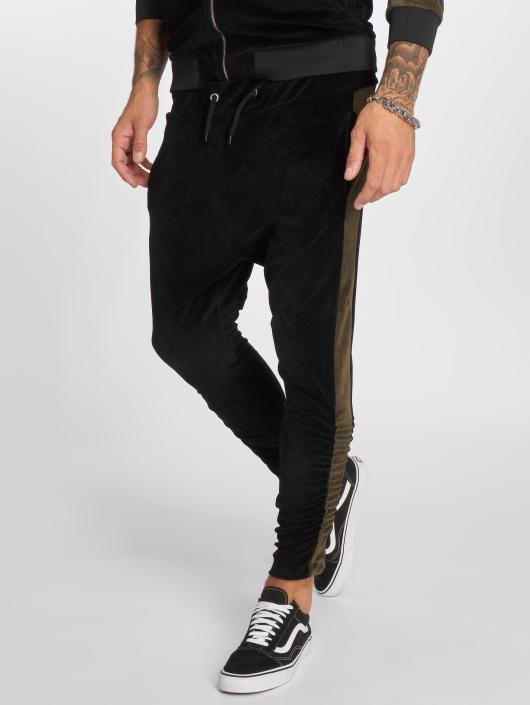 VSCT Clubwear Jogginghose Gathered Leg Velours schwarz