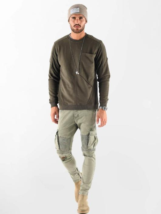 VSCT Clubwear Jumper Clubwear Flightsweat Backzip khaki