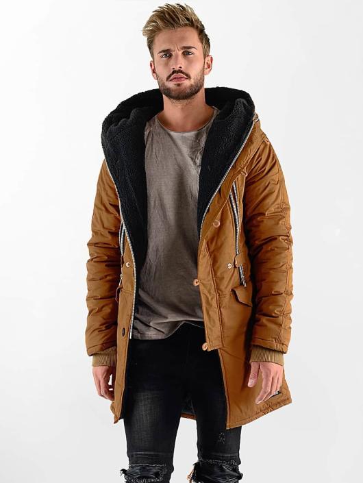 VSCT Clubwear Kurtki zimowe Double-Zipper Huge Luxury brazowy