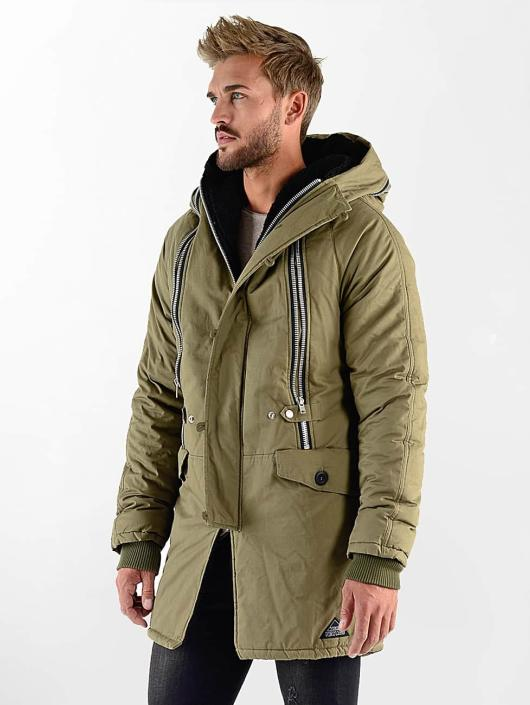 VSCT Clubwear Kurtki zimowe Double-Zipper Huge Luxury khaki